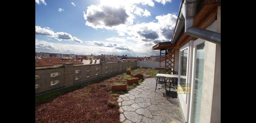 Prodej mezonetového bytu 110m+/terasa 70m2, Praha 10 - Strašnice, OV