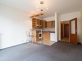 Pronájem bytu  1+kk, 35m2, Praha 10 - Záběhlice, nový, zařízený